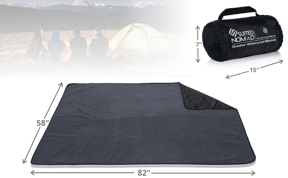 extra large xl xxl blanket outdoor camping mat throw thick picnic nomad rug hiking compact warm car