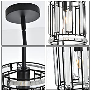 mini ceiling chandelier