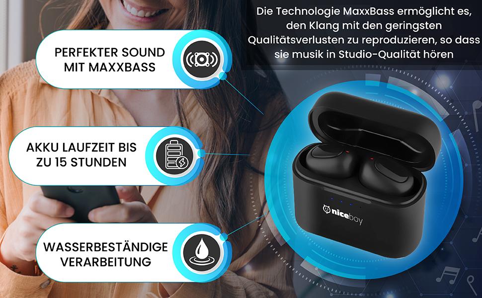perfekter sound mitt maxxbass podsie headphones kopfer