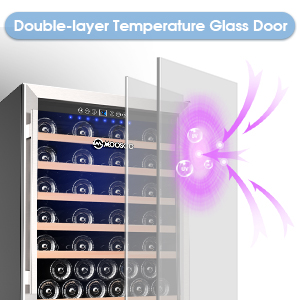 Double-layer Temperature Glass Door