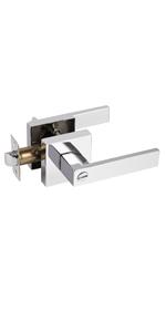 Polished chrome privacy levers
