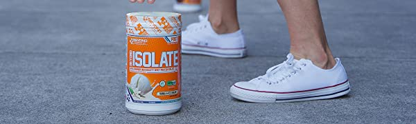 Isolate Protein, Whey Protein, Lactose Free, Gluten Free, Stevia Sweetened