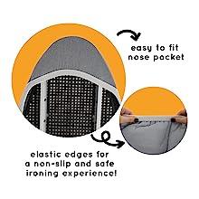 Elastic Edge nose pocket fit standard size