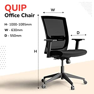 HNI-Quip India's Ergonomic Task Chair with Mesh & Adjustable Lumbar Support SPN-FOR1