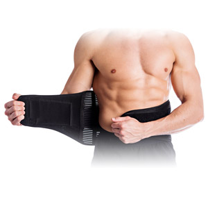 comfortable lower back brace splint reduces sprain spine aligned belt compressed tension Infused
