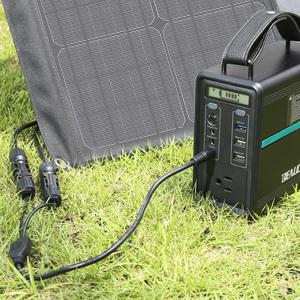 BEAUDENS 100W Chargeur Panneau Solaire Pliable Smartphone 4 Ports de Sortie Ordinateur Portable Appareil 18V pour G/én/érateur d/Énergie Portable Groupe /Électrog/ène CC, QC3.0, Type C et USB Auto