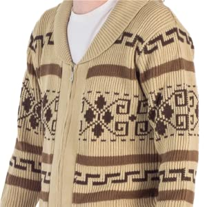 The Big Lebowski Jeffrey The Dude Zip Up Costume Cardigan Sweater