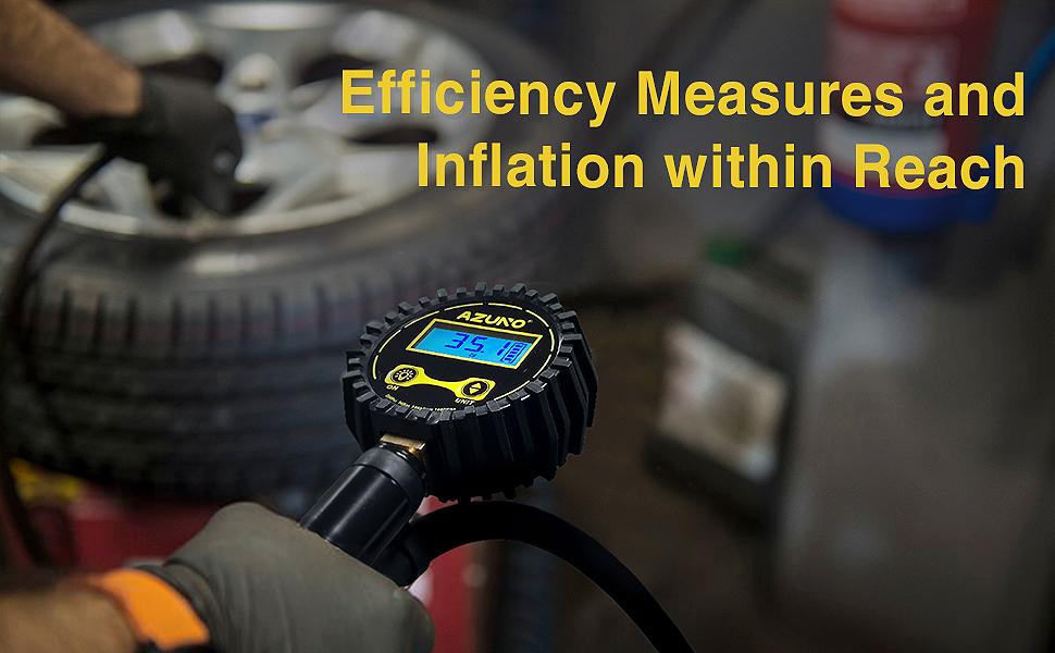 Digital Tire Inflator with Pressure Gauge A1