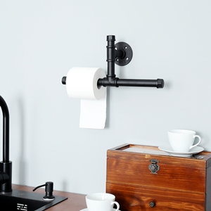 wall mounted bathroom pipe shelf