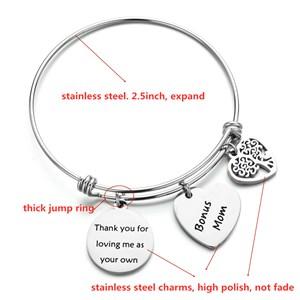 stepmom charm bangle bracelet