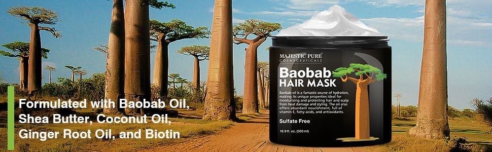 majestic pure baobab deep conditioning hair mask conditioner natural best top dry damaged processed