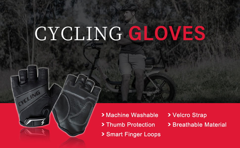 Addmotor Sports Cycling Gloves Half Finger Shock-Absorbing Breathable Anti-Slip