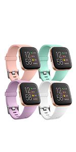 Ouwegaga Compatible con Fitbit Versa Correa/Fitbit Versa 2 Correa, Pulsera Tejidas Ajustable Reemplazo Sport Wristband Compatible con Fitbit Versa Smartwatch, Grande, Colorido: Amazon.es: Electrónica
