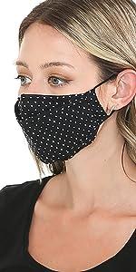 auline collection face mask polka dot black