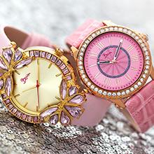 boum, watch, wristwatch, watches, gem, gems, gemstone, crystal, diamonds, pink