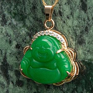 jade buddaha pendant