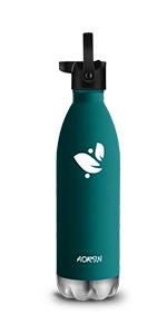 24 Std K/ühlen /& 12 Std Warmhalten Pulverlackierung Kratzfestigkeit Leicht zu reinigen. AORIN Vakuum-Isolierte Trinkflasche aus Hochwertigem Edelstahl