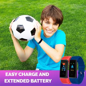 Fit Bit Kids Girls Boys Teens Activity Tracker Pedometer Heart Rate Sleep Waterproof Step Alarm