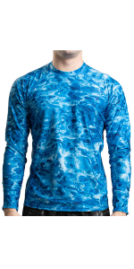 mens rash guard shirt rashguard sun protection swimming watersports long sleeve longsleeved