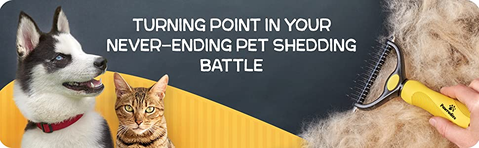 Cat and dog deshedding brush for shedding short and long hair, effective husky dog brush.