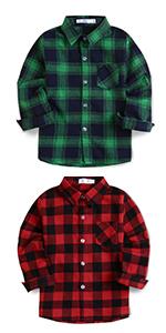 Kids Flannel Plaid Shirt