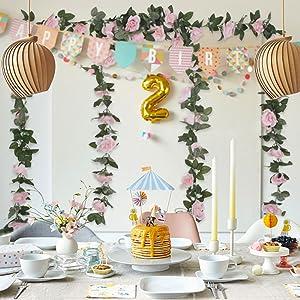 party decoration Artificial Rose Vine Silk Rose