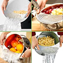 kitchen tools and gadgets sieve fine mesh clip on strainer mesh strainers for kitchen kitchen gifts