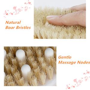 wet dry brushing body brush with natural bristles
