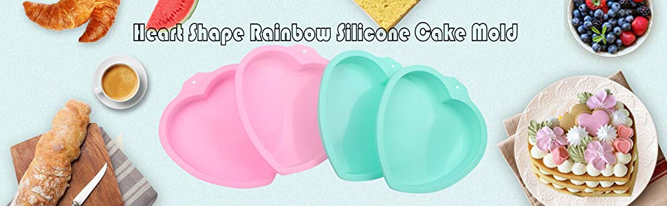 Heart Rainbow Cake Pans