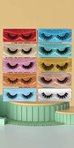 10 pairs 10 styles mixed lashes