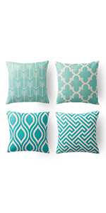 throw pillow covers 18 x 18 grey teal bright throw pillows blue aqua and grey couch pillows