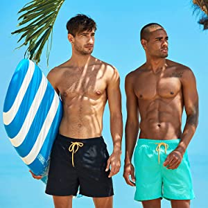 mens surfiWaterproof swim shorts with quick dry fabric.ng shorts