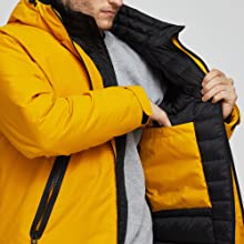 hiking mountain jacket outerwear cold winter day men