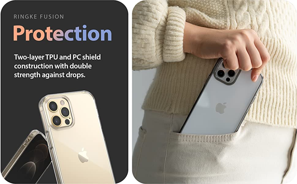 Ringke Fusion Case Designed for iPhone 12 Pro Max Case  Anti Scratch Case 6.7""