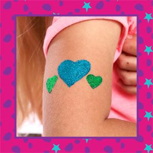 GirlZone Regalos para Niñas -Tatuajes Purpurina -Kit De Tatuajes ...