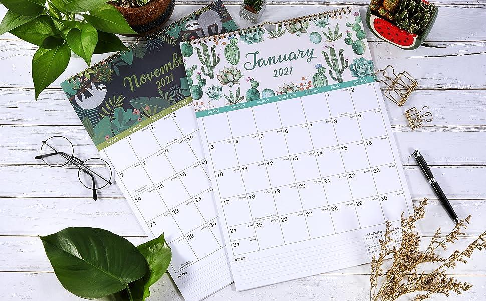 Amazon.com : 2021-2022 Calendar - Wall Calendar 2021-2022 ...