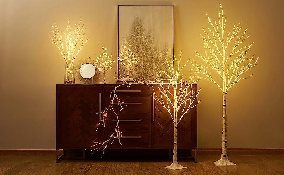 LITBLOOM Lighted Birch Trees