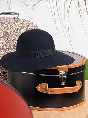 Hutkoffer Hutbox Hutschachtel box koffer schachtel deko hut hüte aufbewahren aufbewahrung