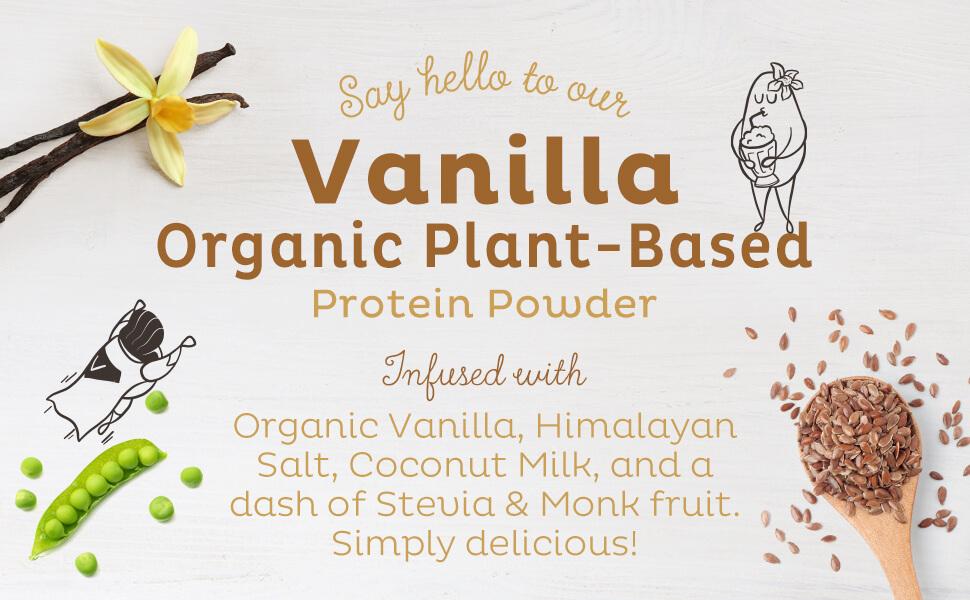 vanilla kos protein organic vegan plant based organic pea