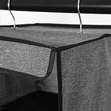 Crochets métalliques: 2 crochets métalliques résistants ne se déforment pas.