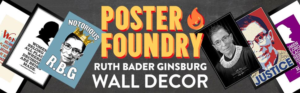 RBG, ginsberg, ruth bader ginsberg, canvas, wall decor, framed print, framed, frame, poster, posters