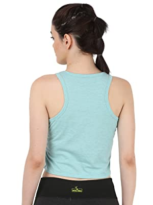 Cropped Tank Tops Women Loose Flowy Workout Tanks Yoga Top Muscle Tee Stylish new racerback tank top