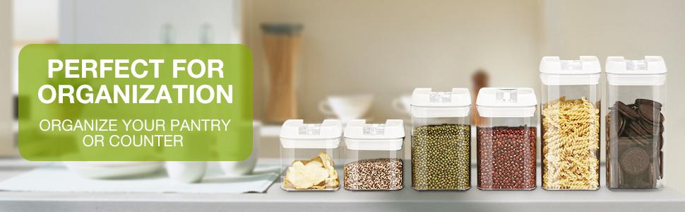 hermetyczne pojemniki do przechowywania żywności z pokrywkami