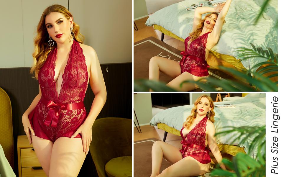 Sexy Body Lingerie Damen Bodys Dessous V Ausschnitt