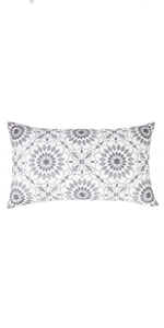 gray rectangular pillow covers