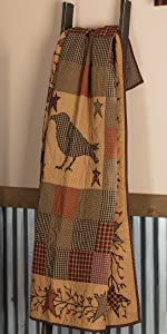 Heritage Farms Quilted Throw primitive country rustic Americana VHC Brands bedding patchwork