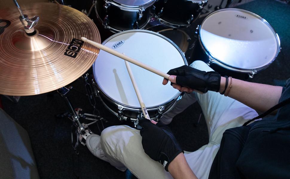 Schlagzeughandschuhe Drummer Gloves Arbeitshandschuhe Leder Handschuhe Drums L