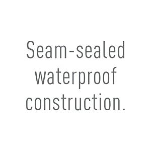 Seam-sealed waterproof construction.
