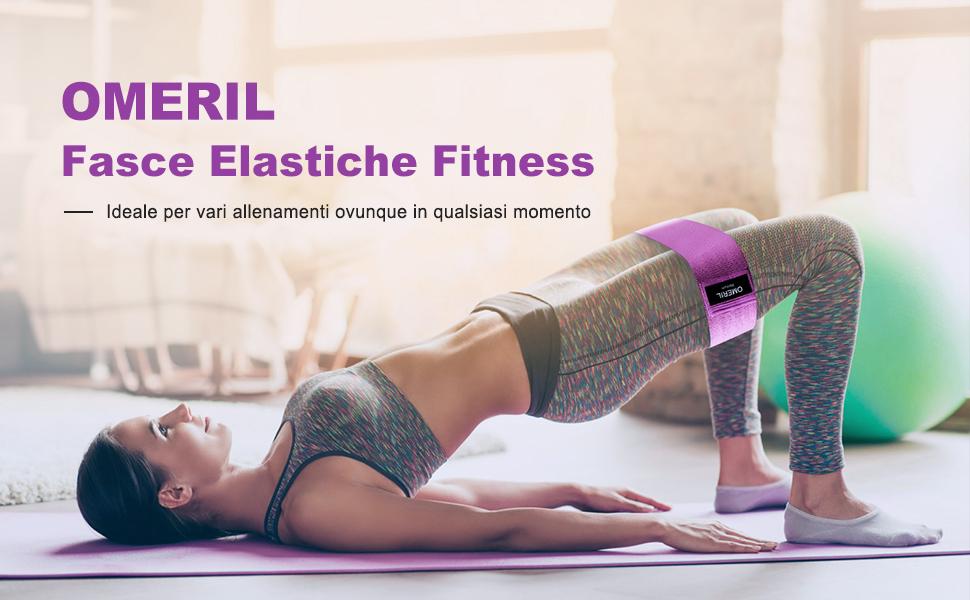 fasce elastiche fitness per gli esercizi