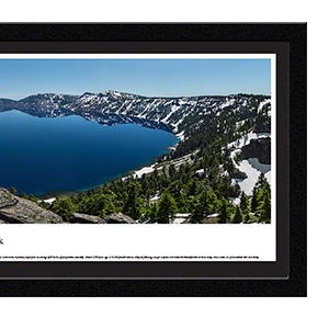 Amazon Com Blakeway Worldwide Panoramas Crater Lake Summer Blakeway Panoramas National Park Posters With Deluxe Frame Double Mat Posters Prints